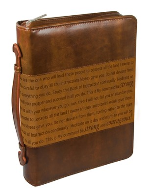 Courageous Bible Cover, Brown, Medium  -