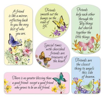 Butterfly Friendship Magnets, Set of 6  -
