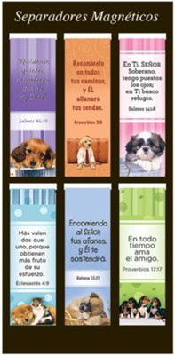 Perritos, Marcadores De Libros Magnético    (Puppies, Magnetic Bookmarks)  -