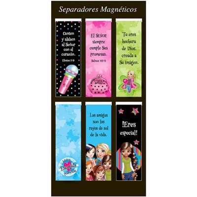 Little Miss Grace, Marcadores De Libros Magnéticos  (Little Miss Grace, Magnetic Bookmarks)   -