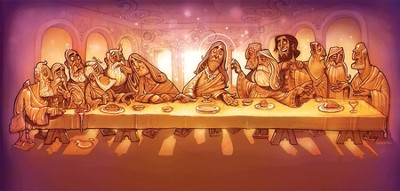 Walk With Jesus Station 2 Backdrop: The Last Supper  -