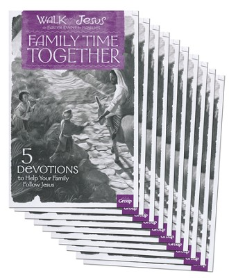 Walk With Jesus Family Time Together Booklet, package of 10  -
