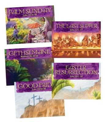 Walk With Jesus Collector Cards, 50 sets of 5  -