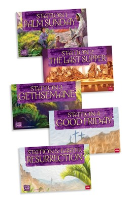 Walk With Jesus Station Posters, package of 5  -