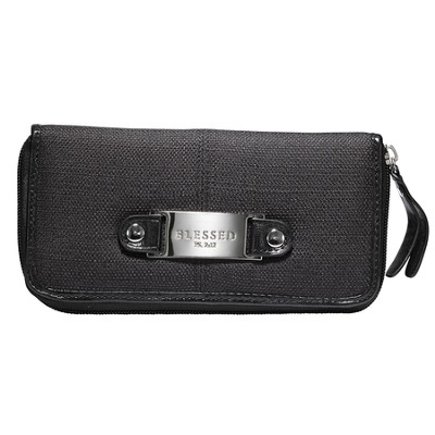 Blessed Check Wallet, Black  -