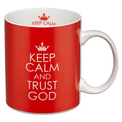 Keep Calm and Trust God Mug, Red  -