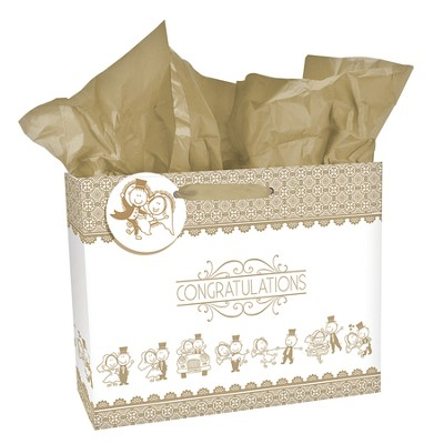 Congratulations, Wedding Gift Bag, Large  -
