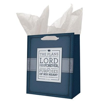 The Plans Of the Lord Stand Firm Forever Gift Bag, Medium  -