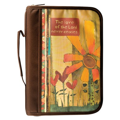 The Love Of the Lord Never Ceases Bible Cover, Medium  -