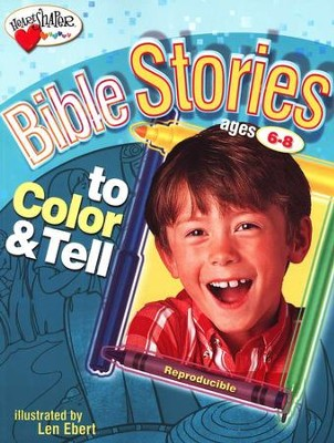 Bible Stories to Color and Tell (Ages 6-8)   -