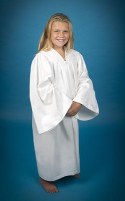 Pleated Baptismal Gown for Children, Medium  -