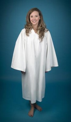 Pleated Baptismal Gown for Women, Medium  -