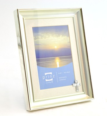 Faithful Moments Photo Frame with Cross   -