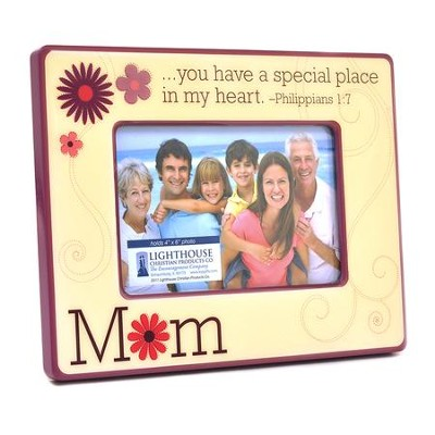 Mom Photo Frame, Philippians 1:7  -
