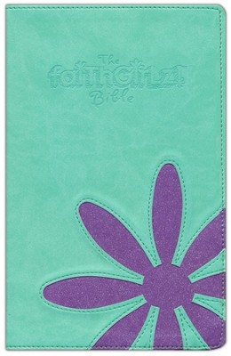 NIV Faithgirlz! Bible, Duo Tone Teal and Purple Sparkle  1984  -