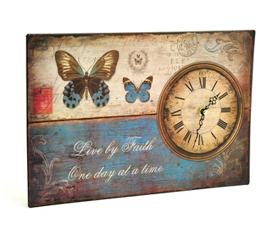 Live By Faith Clock   -