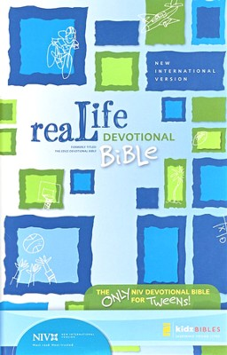 ReaLife Devotional Bible for Kids, NIV Blue 1984  -     By: Mark Littleton, Marnie Wooding