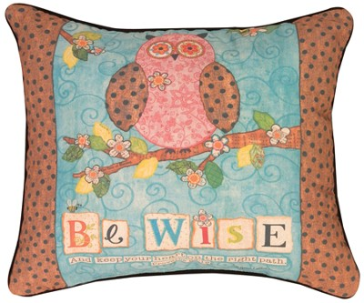 And Keep Your Heart on the Right Path Pillow  -     By: Annie LaPoint