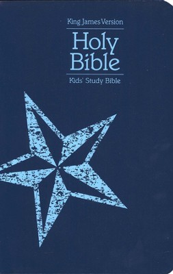 KJV Version Kids Study Bible, Soft Leather-Look, Blue with Star Design  -