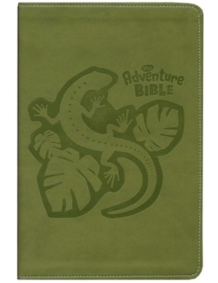 NIrV Adventure Bible for Early Readers, Italian Duo-Tone &#153, Jungle Green - Imperfectly Imprinted Bibles  -