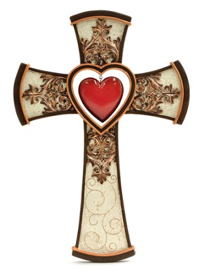 Cross with Hanging Heart  -