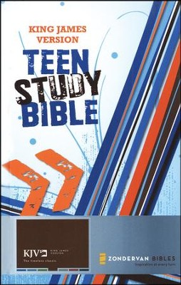 King James Version, Teen Study Bible, Hardcover  -