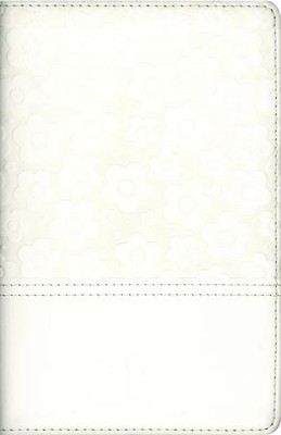 The NIV Flower Girl Bible, Italian Duo-Tone, White  -