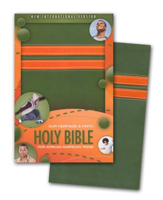 New International Version: Our Heritage and Faith Holy Bible: For African American Teens, Italian Duo-Tone 1984  -