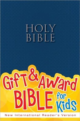 NIrV Gift & Award Bible, Blue Softcover - Slightly Imperfect  -