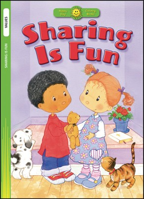 Sharing Is Fun Coloring Book   -     Illustrated By: Nancy Carter