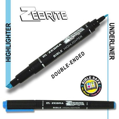Zebrite Double End Marker, Blue   -