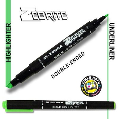 Zebrite Double End Marker, Green   -