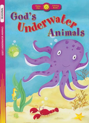 God's Underwater Animals Coloring Book   -     Illustrated By: Judy Blankenship