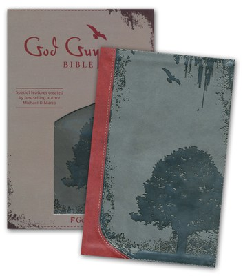 God Guy Bible, Duravella, Grunge Tree Design, charcoal/ burgundy  -     By: Michael DiMarco