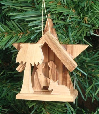 Nativity Ornament with Star, Small  -