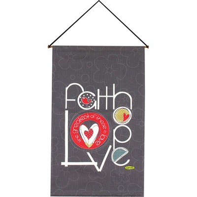 Faith Hope Love Wallhanging  -     By: Amylee Weeks