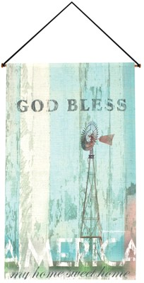 God Bless America Wallhanging  -     By: Patrick Reid O'Brien
