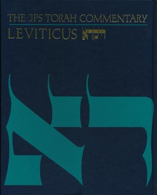 Leviticus: The JPS Torah Commentary   -     By: Baruch A. Levine
