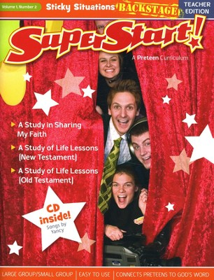 SuperStart! Sticky Situations Backstage, Teacher  Guide w/CD-Rom, Volume 1, Number 2  -