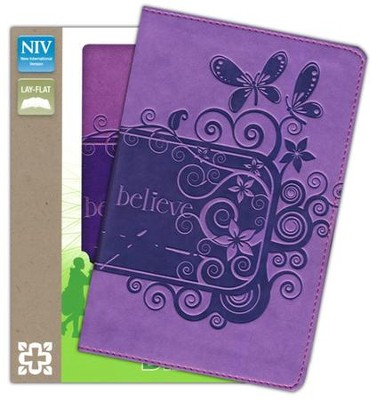NIV Backpack Bible, Italian Duo-Tone, Pizzazz Purple   -