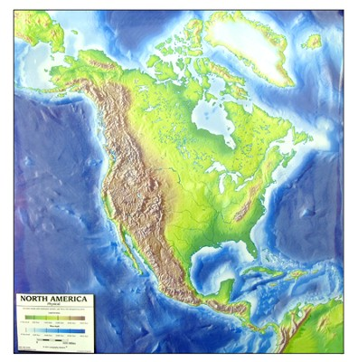 North America Outline Map   -