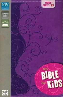 NIV Thinline Bible for Kids, Violet Duo-Tone  -