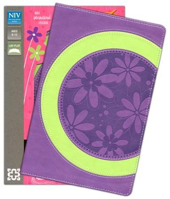 NIV Faithgirlz! Bible, Revised Edition, Italian Duo-Tone, Green/Petal Purple  -