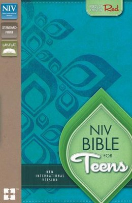 NIV Thinline Bible for Teens--soft leather-look, Caribbean blue/Caribbean blue  -