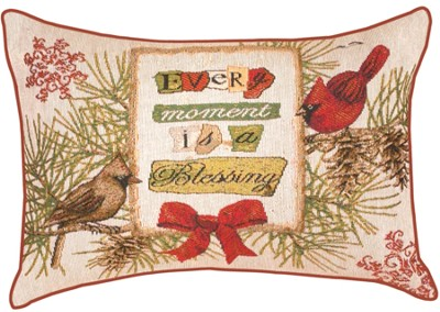Every Moment is a Blessings, Cardinal and Birdhouses Pillow  -     By: Tim Coffey