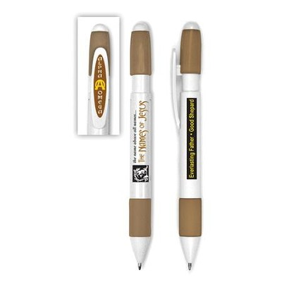 Chunkie Revolving Message Pen, Brown   -