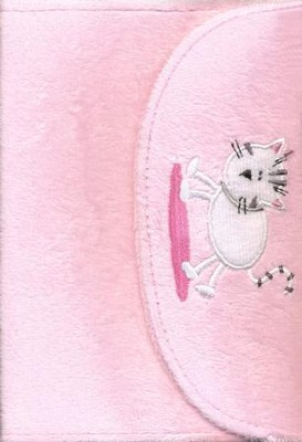 NIrV My Little Purse New Testament, Plush/Furry Softcover, Pink With Kitty Picture  -