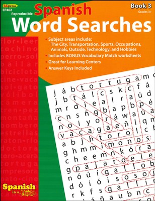 Spanish Word Searches, Book 3  -