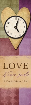 Love Never Fails Wall Clock  -
