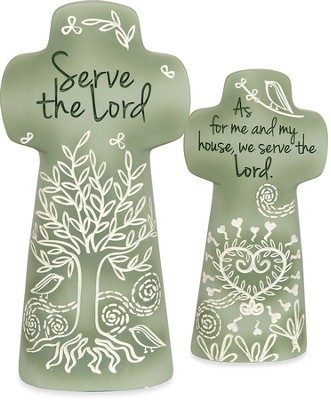Serve the Lord Tabletop Cross  -